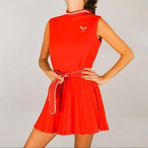 Vintage Tennis Mini Sleeveless Tank Dress